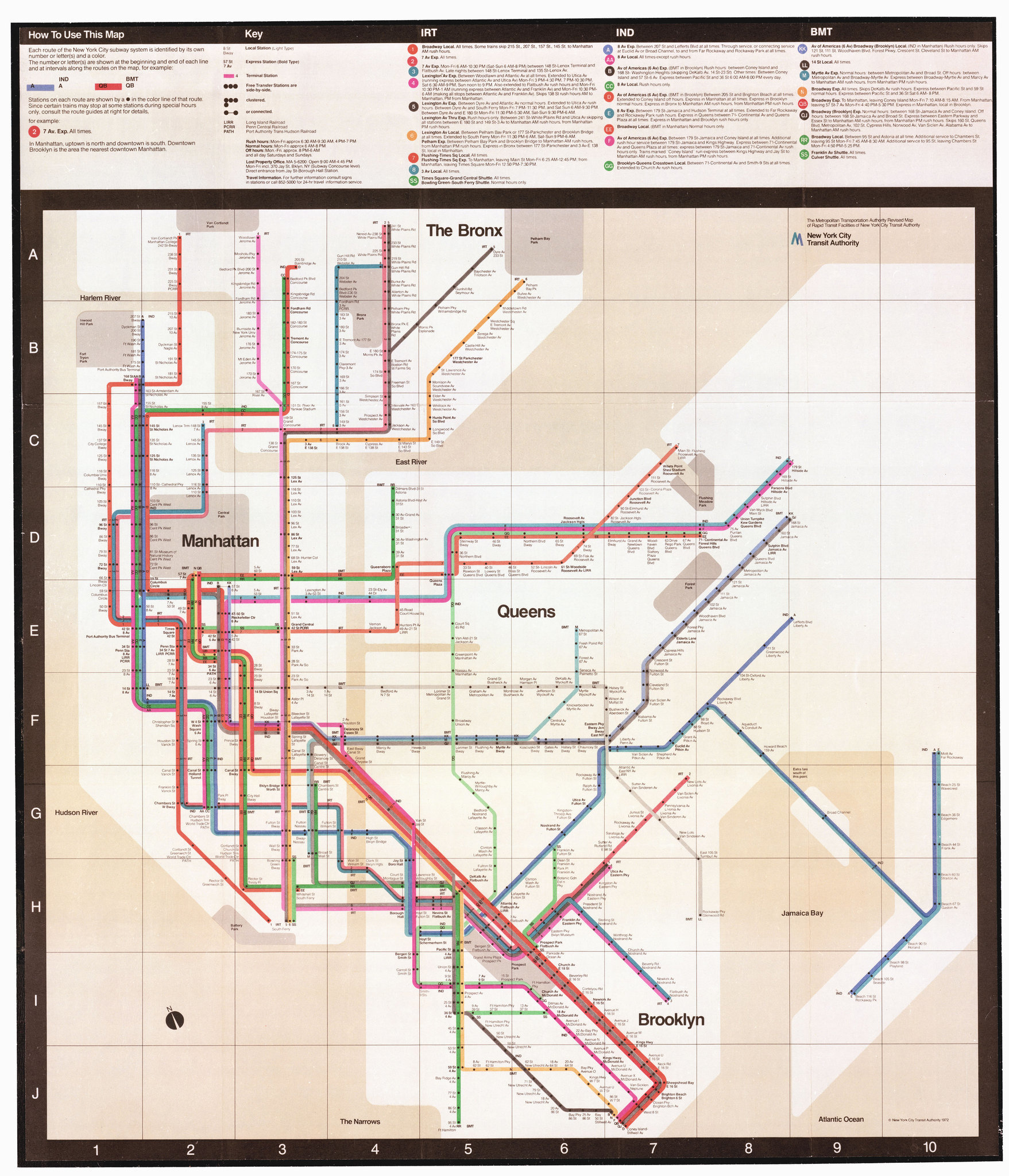 Massimo Vignelli's 1972 New York Subway Map
